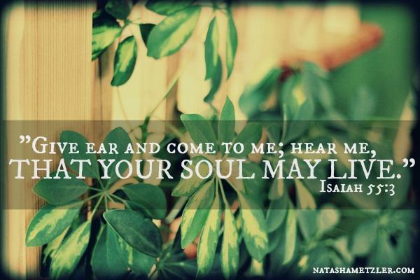 Isaiah 55:3 @natashametzler