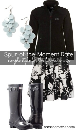Spur-of-the-Moment-Date Look for the farmer's wife