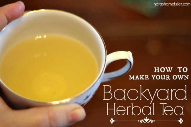 how to make your own backyard herbal tea