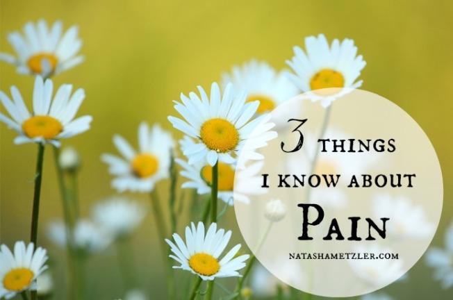 3 Things I Know About Pain @natashametzler
