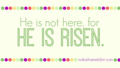 He is not here, for he is risen