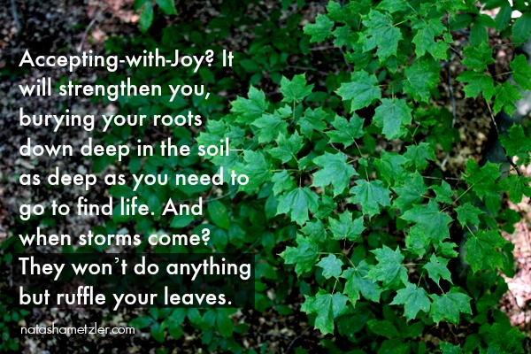 acceptance with joy quote