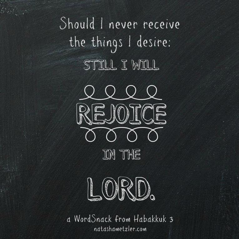 a WordSnack from Habakkuk 3